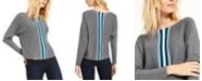 INC International Concepts INC Petite Varsity Stripe Sweater, Created for Macy's