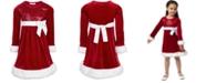 Bonnie Jean Toddler Girls Faux-Fur-Trim Sequined Santa Dress