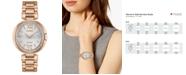 Citizen Eco-Drive Women's Capella Diamond-Accent Rose Gold-Tone Stainless Steel Bracelet Watch 34mm