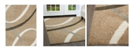 """Nicole Miller Synergy Quill Shag Beige 3'3"""" x 4'3"""" Area Rug"""