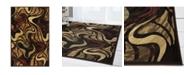"""Global Rug Designs Yorba YOR05 Black 5'3"""" x 7'2"""" Area Rug"""