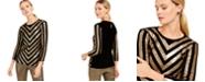 INC International Concepts I.N.C. Petite Velvet Sequined Chevron Top, Created For Macy's
