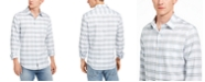 DKNY Men's Windowpane Tartine Shirt