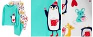 Carter's Big & Little Girls 4-Pc. Cotton Snug-Fit Penguin Pajamas Set
