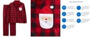 Carter's 2-Pc. Adult Unisex  Family Pajamas, Santa Buffalo-Check