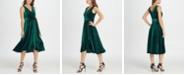 DKNY Velvet Double-V Wrap Midi Dress