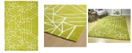 """Kaleen Origami ORG04-96 Lime Green 5' x 7'6"""" Area Rug"""
