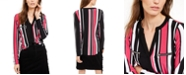 INC International Concepts INC Striped Zip-Detail Top, Created for Macy's