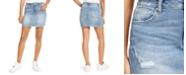 Vanilla Star Juniors' Distressed Mini Skirt