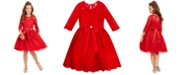 Rare Editions Big Girls Lace Bow Dress
