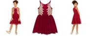 Rare Editions Big Girls Embellished Appliqué Dress