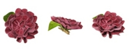 """Northlight 4.75"""" Clip-On Pink Camellia Flower with Leaf Christmas Ornament"""