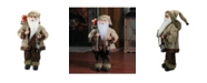 """Northlight 18.25"""" Country Rustic Santa Claus with Lantern Christmas Tabletop Decoration"""