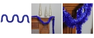 Northlight 50' Shiny Lavish Blue Christmas and Hanukkah Foil Tinsel Garland - Unlit