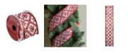 "Northlight White and Red Snowflake Wired Christmas Craft Ribbon 2.5"" x 10 Yards"