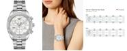 Tissot Women's Swiss Chronograph T-Classic PR 100 Diamond (1/20 ct. t.w.) Gray Stainless Steel Bracelet Watch 38mm