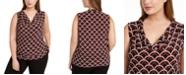 Kasper Plus Size Printed Cowlneck Top