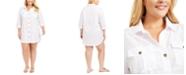 Dotti Plus Size Travel Muse Shirt Cover-Up Dress