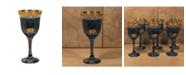 Lorren Home Trends Blue Goblets - Set of 6