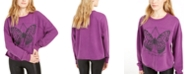 Rebellious One Juniors' Butterfly Graphic Sweatshirt