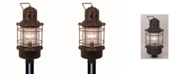 Vaxcel Hyannis Coastal Clear Glass Post Mount Light