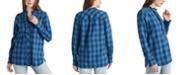 Lucky Brand Audrey Ruffle Plaid Tunic Shirt