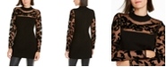 INC International Concepts INC Velvet-Flocked Illusion Sweater, Created For Macy's