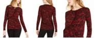 Michael Kors Glam Lace Ruffled Top