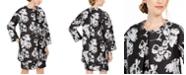 Natori Jacquard Open-Front Jacket