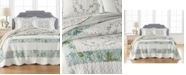 Martha Stewart Collection Quilted Embroidered Floral Full Bedspread, Created for Macy's