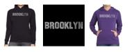 LA Pop Art Women's Word Art Hooded Sweatshirt -Brooklyn Neighborhoods