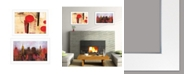"Trendy Decor 4U NYC Harmony 2-Piece Vignette by artisan Cloverfield Co, White Frame, 19"" x 15"""