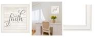 "Trendy Decor 4U Trendy Decor 4U Simple Words - Faith by Marla Rae, Ready to hang Framed print, White Frame, 15"" x 15"""