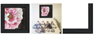 "Trendy Decor 4U Blooms on Black I by Lisa Morales, Ready to hang Framed Print, Black Frame, 15"" x 15"""