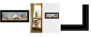 "Trendy Decor 4U Spring On The Farm by Billy Jacobs, Ready to hang Framed Print, Black Frame, 27"" x 11"""