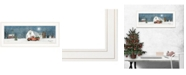"""Trendy Decor 4U Winter on The Farm by Billy Jacobs, Ready to hang Framed Print, White Frame, 27"""" x 11"""""""