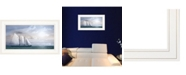 "Trendy Decor 4U Adventure on the Seas by Lori Deiter, Ready to hang Framed Print, White Frame, 21"" x 12"""