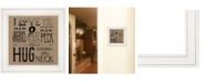 "Trendy Decor 4U Trendy Decor 4U Hugs Around the Neck by Deb Strain, Ready to hang Framed Print, White Frame, 15"" x 15"""