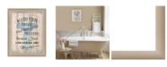 "Trendy Decor 4U Wash your Hands By Debbie DeWitt, Printed Wall Art, Ready to hang, Beige Frame, 14"" x 18"""