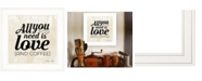"""Trendy Decor 4U All You Need is Love and Coffee by SUSAn Ball, Ready to hang Framed Print, White Frame, 15"""" x 15"""""""