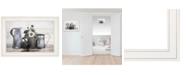 "Trendy Decor 4U Floral Farmhouse I by Robin-Lee Vieira, Ready to hang Framed Print, White Frame, 21"" x 15"""