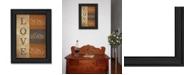 "Trendy Decor 4U Trendy Decor 4U Love By Lauren Rader, Printed Wall Art, Ready to hang, Black Frame, 15"" x 19"""