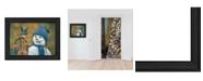 "Trendy Decor 4U Snow Brother - Snowman by Kim Norlien, Ready to hang Framed Print, Black Frame, 21"" x 15"""