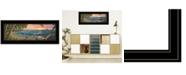 "Trendy Decor 4U Summer Breeze by Kim Norlien, Ready to hang Framed Print, Black Frame, 27"" x 11"""