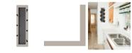 "Trendy Decor 4U 7-Peg Mug Rack by Millwork Engineering, Sand Frame, 7"" x 26"""