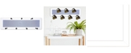 "Trendy Decor 4U 7-Peg Mug Rack by Millwork Engineering, White Frame, 26"" x 7"""