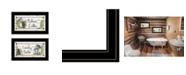 "Trendy Decor 4U Nature Calls 2-Piece Vignette by Mary June, Black Frame, 21"" x 12"""