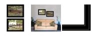 "Trendy Decor 4U The Spring House 2-Piece Vignette by Billy Jacob, Black Frame, 19"" x 15"""