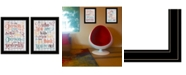 """Trendy Decor 4U The Only Person 2-Piece Vignette by SUSAn Ball, Black Frame, 15"""" x 19"""""""