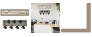 "Trendy Decor 4U The Kitchen Vignette 2-Piece Vignette with 7-Peg Mug Rack by Millwork Engineering, Taupe Frame, 32"" x 7"""